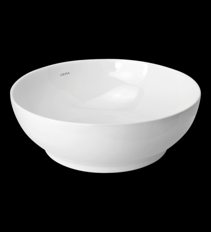 Cera Coyal White Ceramic Table Top Wash Basin
