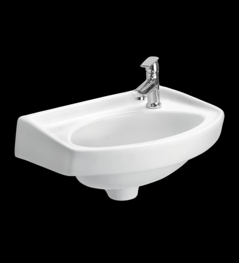 Cera Cozy White Ceramic Wash Basin