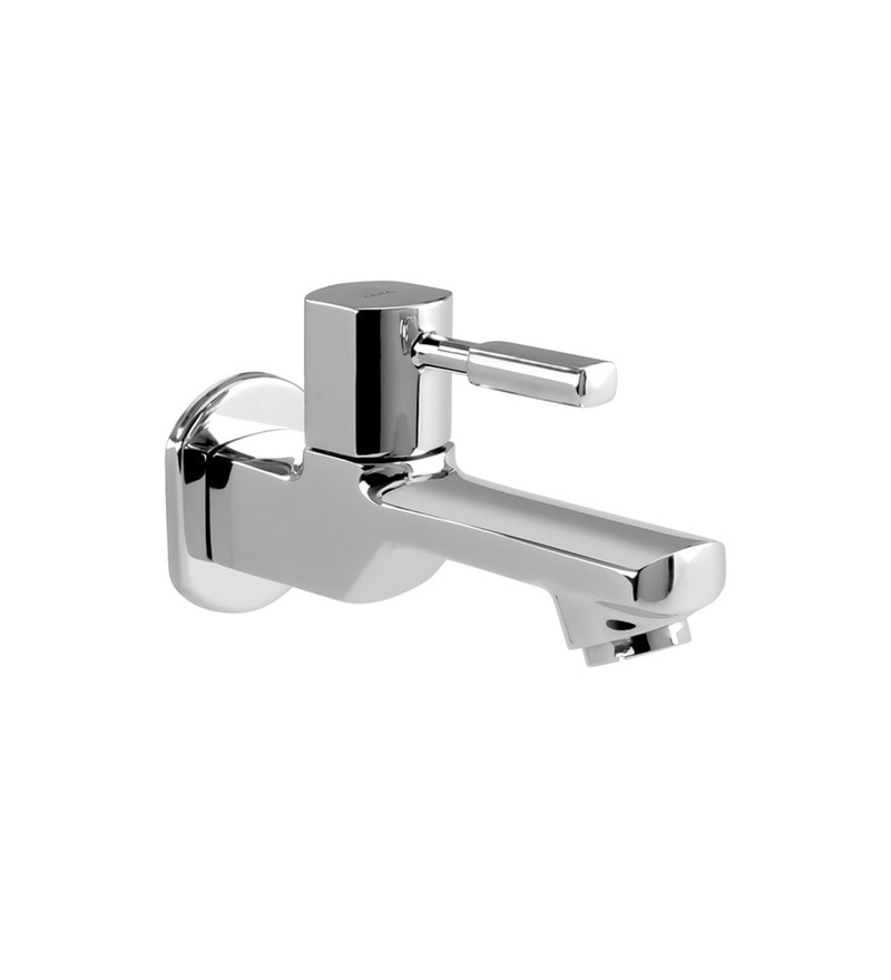 Cera Gayle Single Lever Cs 1403 Chrome Plated Brass Bib Cock with Wall Flange