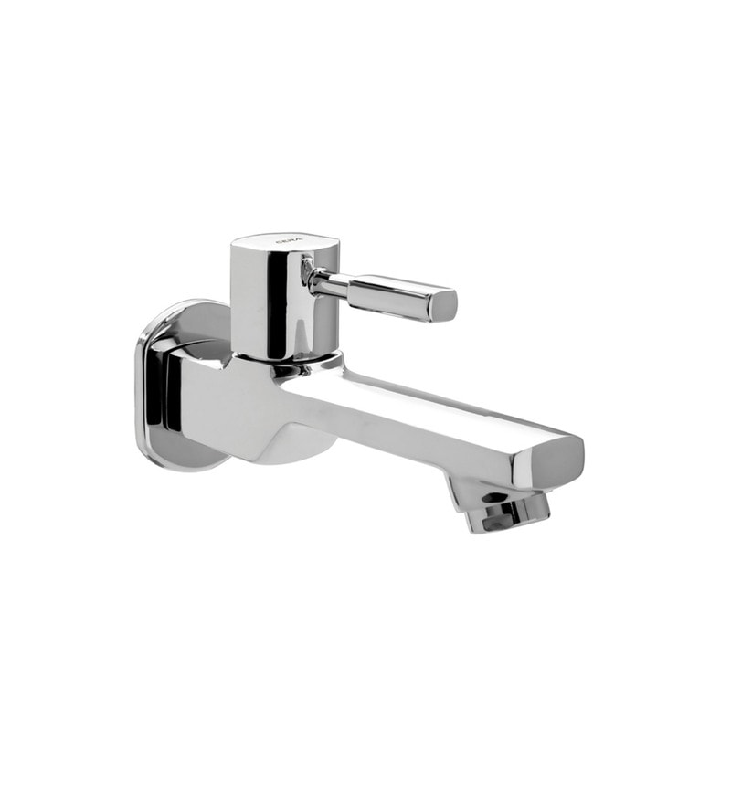 Cera Gayle Single Lever Cs 1404 Chrome Plated Brass Long Nose Bib Cock with Wall Flange