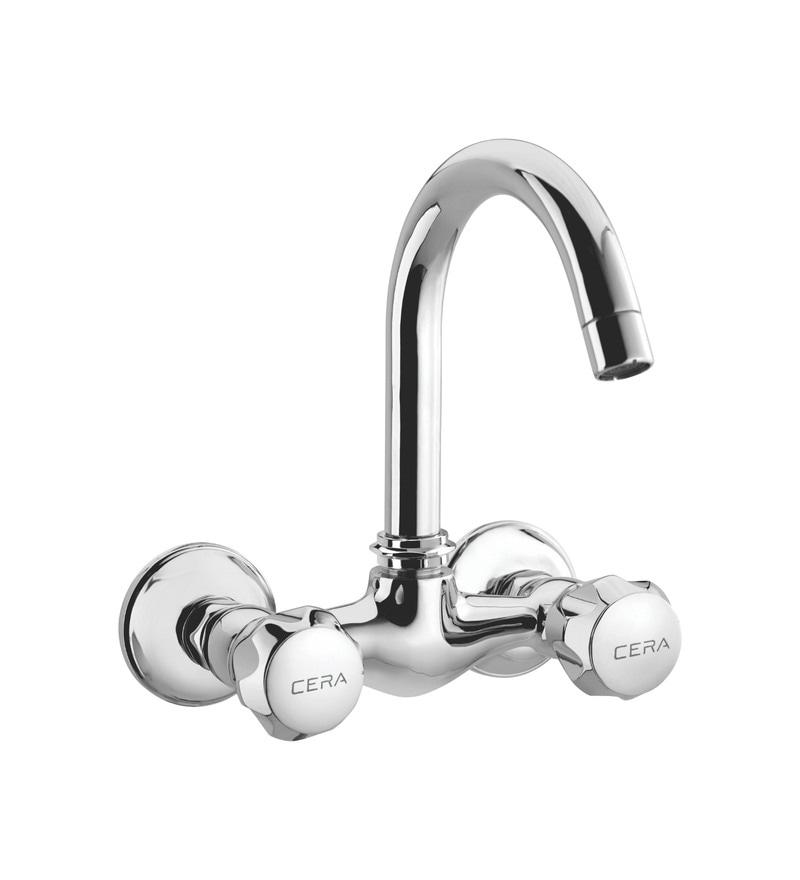 Cera Ocean Quarter/Half Turn Cq 619 Chrome Plated Brass Sink Mixer