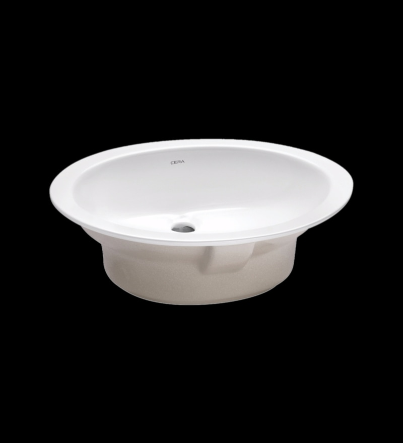 Cera Oval White Ceramic Wash Basin
