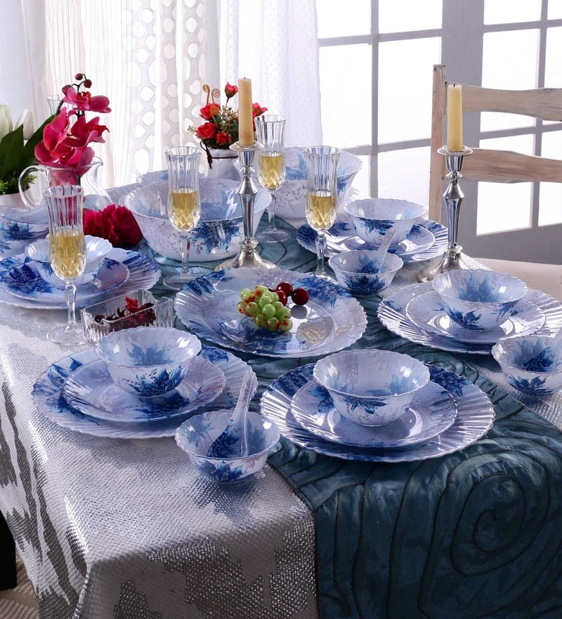 Ceradeco Blue Ocean Glassware Dinner Set - Set of 33