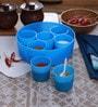 Cello Max Fresh Air Tight Blue Round Multi Spice Kit Cum Container