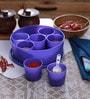 Cello Max Fresh Air Tight Purple Round Multi Spice Kit Cum Container