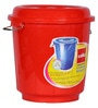 Cello Plastic 30 L Red Storage Bucket with Lid