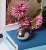 Micasa Silver Ceramic Egg Office Dcor Accessory
