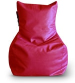 Large Bean Bag Chair with Beans in Red Colour
