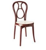 Chair Series in Maroon & Cream Colour