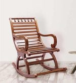 Chelmsford Teak Wood Rocking Chair in Composite Teak Finish