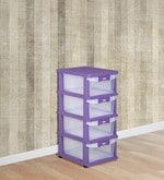 Chester Chest of Four Drawers in Purple Colour