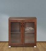 Chikako Two Door Storage Cabinet in Walnut Finish