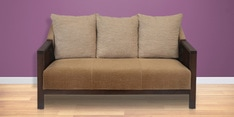 Chevy Three Seater Sofa in Brown Colour