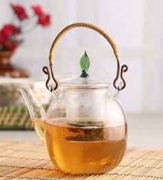 Chado Leaf Borosilicate Glass 500 ML Tea Pot