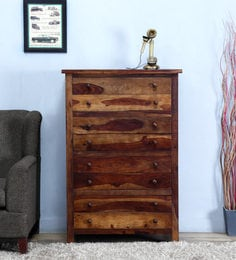 Chest Of Eight Drawer In Provincial Teak Finish