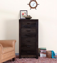 Acropolis Chest Of Seven Drawers In Warm Chestnut Finish