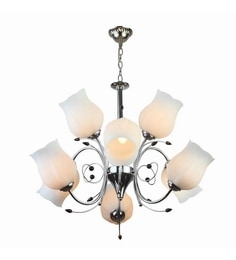 Chandeliers buy jhommer lightscrystal chandeliers online in india silver mild steel chandelier aloadofball Gallery