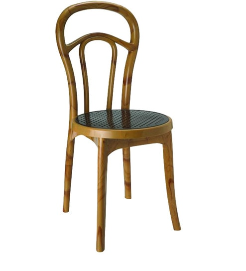 Buy Plastic Chair In Mapple Weather Brown Colour By Nilkamal