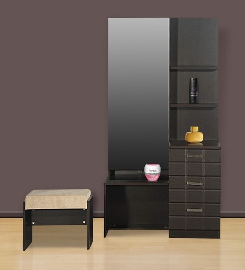 Superieur Chocolat Premium Dressing Table With Stool In Cola Rain Finish By Godrej  Interio