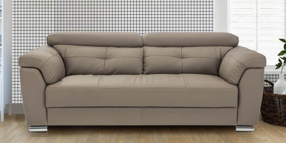 buy charles three seater sofa in brown colour by durian online