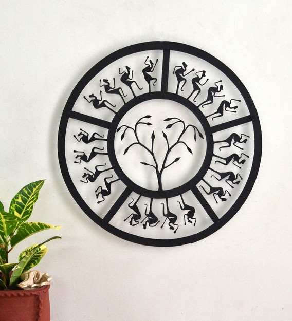 Wrought Iron Round Decorative In, Round Wall Decor Metal