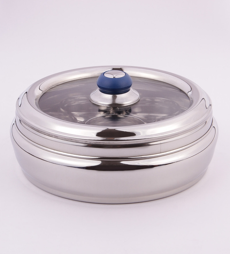 Chakmak Excellent Silver Stainless Steel 7-compartment Masala Box