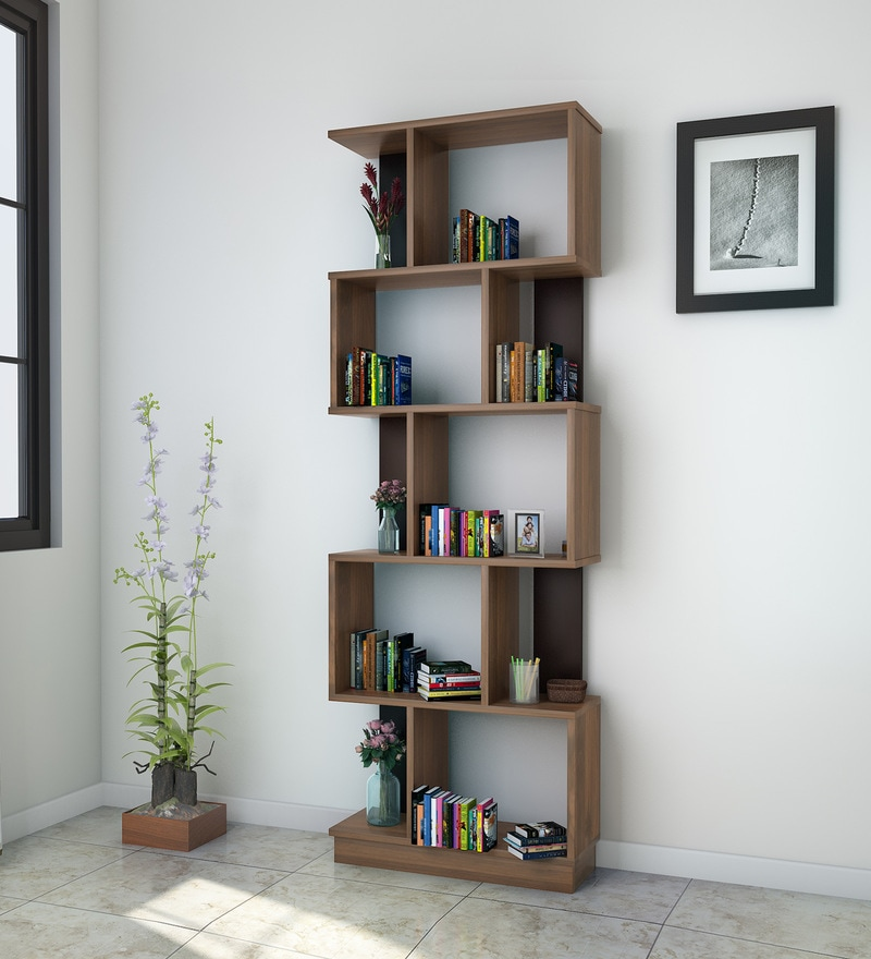 Buy Checkers Five Tier Bookshelf In Walnut Colour By @home