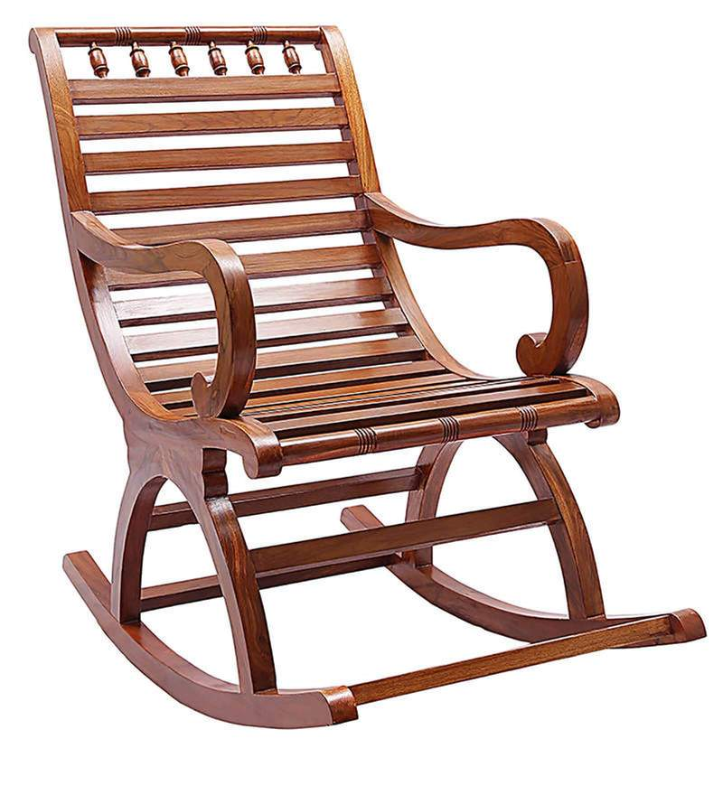 Buy Chelmsford Teak Wood Rocking Chair In Composite Teak