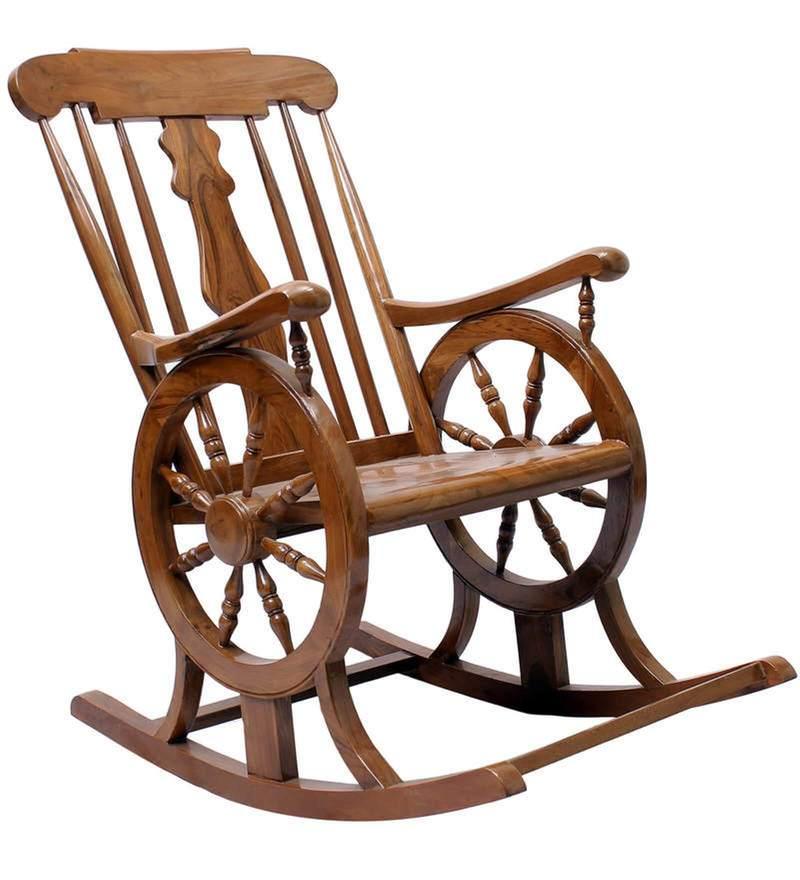 buy chelmsford teak wood rocking chair in composite teak finish by finesse online rocking. Black Bedroom Furniture Sets. Home Design Ideas