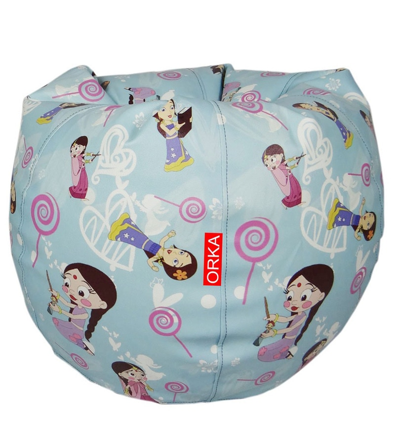 Chhota Bheem Digital Printed Kids Bean Bag Cover in Multicolour by Orka