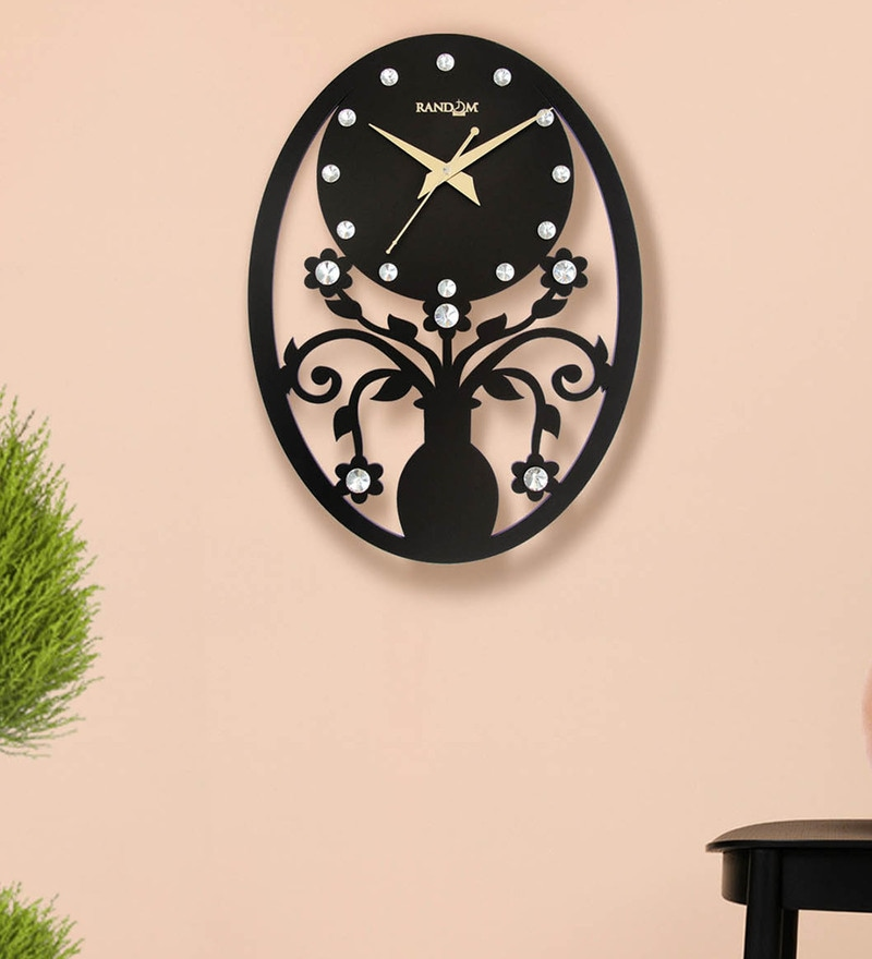 Chocolaty Brown Wood 14.5 x 2 x 10.5 Inch Falcon Wooden Wall Clock by Random