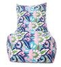 Floral Design XXL Bean Bag Chair with Beans in Multicolour by Style HomeZ