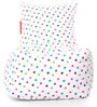 Chair Cotton Canvas Star Design Bean Bag XXL Size with Beans by Style Homez