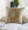Chandrika Orange Cotton 16 x 16 Inch Cushion Cover