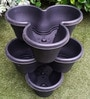 Chhajed Garden Purple Plastic Stacking Flower Pot - Set of 3