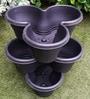 Chhajed Garden Purple Plastic Stacking Flower Pot - Set of 3