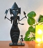 Chinhhari Arts Black Wrought Iron Ganpati Showpiece