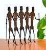 Chinhhari Arts Black Wrought Iron Relo Epic Showpiece - Set of 5