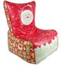 Christmas Theme Kids Bean Bag Chair with Beans in Multicolour by Orka