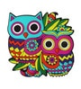 Multicolour Pvc Owl Fridge Magnet by Chumbak