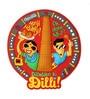 Multicolour Pvc Delhi Fridge Magnet by Chumbak