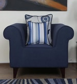 Cielo One Seater Sofa in Navy Blue Colour
