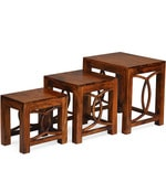 Citrine Set of Tables in Walnut Colour