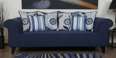 Cielo Three Seater Sofa in Navy Blue Colour
