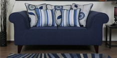 Cielo Two Seater Sofa in Navy Blue Colour