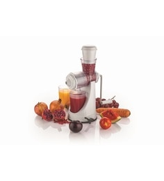 Cierie White Abs Fruit & Vegetable Hand Juicer
