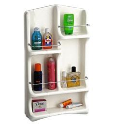 Cipla Plast Oasis  White PPCP 29 X 14 X 4.3 Inch Bath Shelf