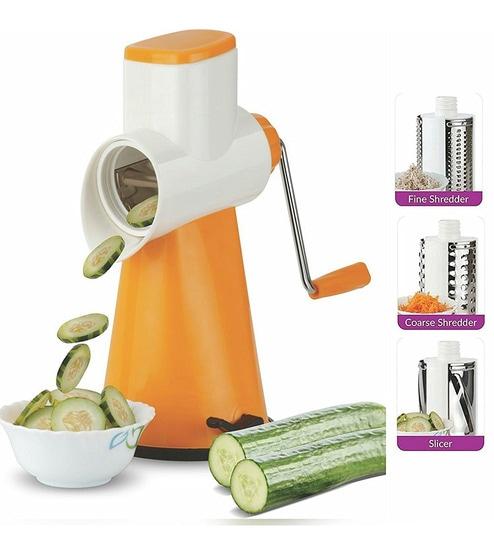 Cierie Drum Grater Shredder Slicer For Vegetables & Fruits With Stainless Steel Blades