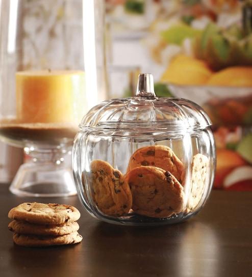 Circleware Pumpkin Round 2.19L Cookie Jar
