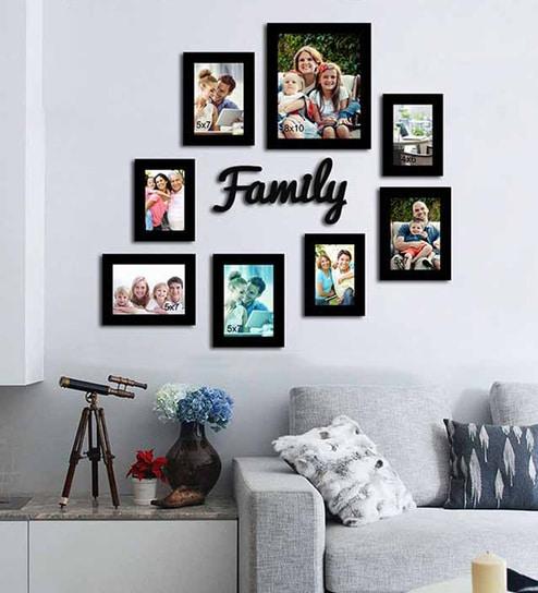 Buy Family Black Wood & Glass 8-photo Frame by Art Street Online ...